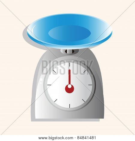 Kitchenware Weight Scale Theme Elements Vector,eps