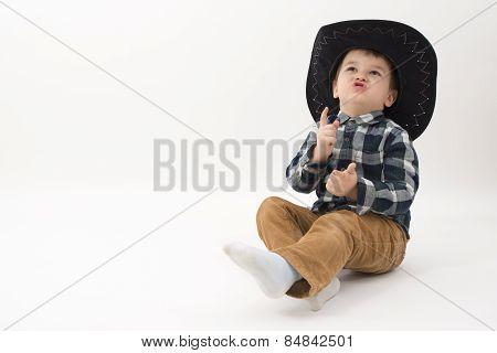 Little Cowboy Isolated