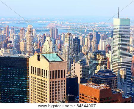 The urban sprawl of uptown New York City