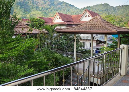 Balcony Of Overlooking Village