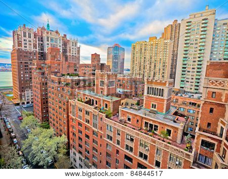 Traditional red brick apartments in Manhattan New York