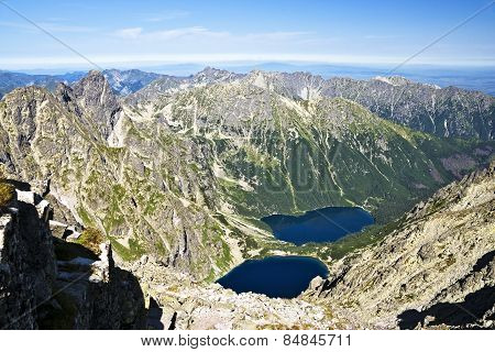 View From Rysy, At Valley Eye Sea, The Polish Tatras