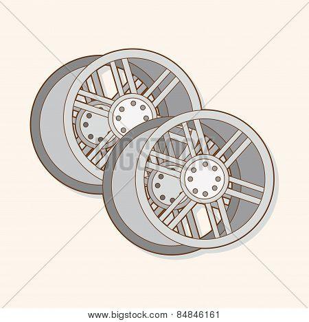 Racing Wheel Theme Elements Vector,eps