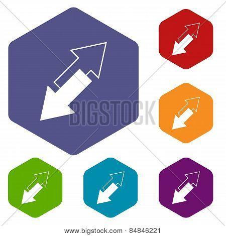 Reverse rhombus icons
