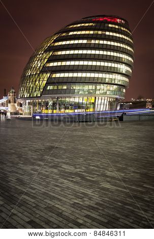 LONDON, ENGLAND FEB 17: London City Hall, headquarter of London Authority on Feb 17, 2012 in London, United Kingdom.