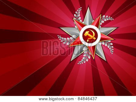 Holiday Background On Victory Day Or Defender Of The Fatherland Day. May 9. February 23
