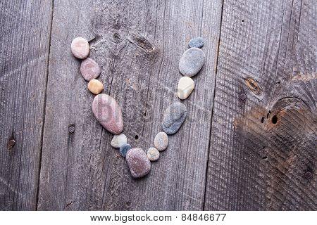 Stone Alphabet - V