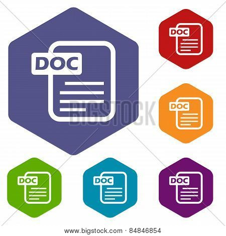 Doc rhombus icons