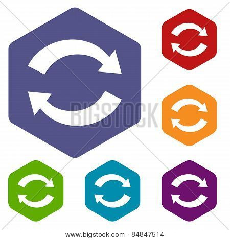 Synchronization rhombus icons