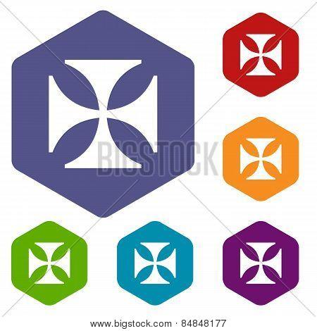 Crusaders rhombus icons