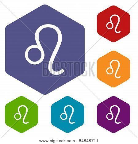 Leo rhombus icons