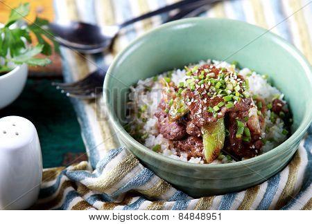 Japanese Rice Bowl Dish Yakinikudon