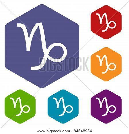 Capricorn rhombus icons