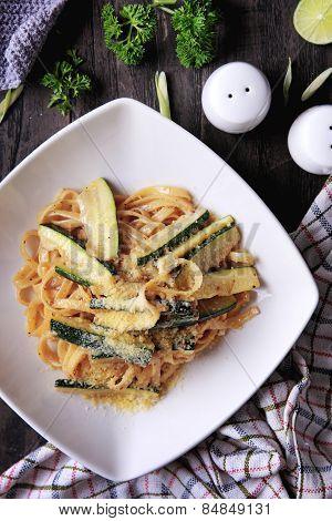 Fettuccini Zucchini
