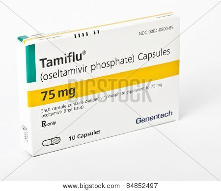 MONROE, CONNECTICUT - JAN 22: An isolated box of Tamiflu on January, 22, 2013 in Monroe, Connecticut.