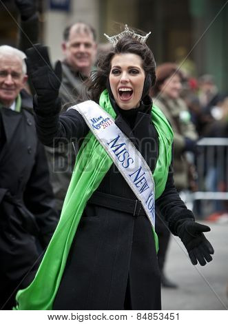 NEW YORK, NY, USA - MAR 17: Miss New York at St. Patrick's Day Parade on March 17, 2014 in New York City, United States.