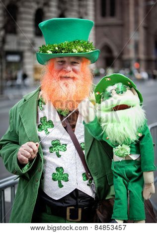NEW YORK, NY, USA - MAR 17:  at the St. Patrick's Day Parade on March 17, 2014 in New York City, United States.