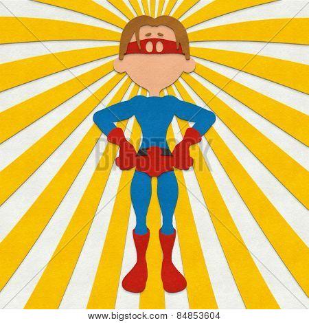Felt Superhero Power Pose