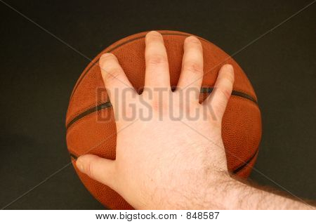 Holding Basketball #4