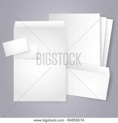 Blank Stationery And Corporate Identity Templates