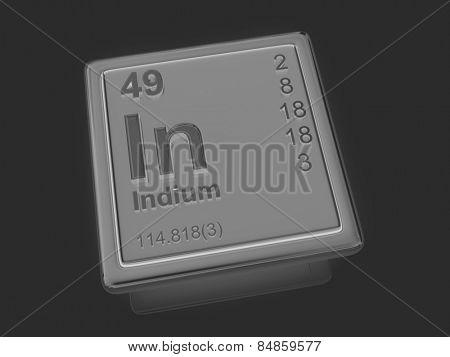 Indium. Chemical element. 3d