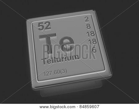 Tellurium. Chemical element. 3d