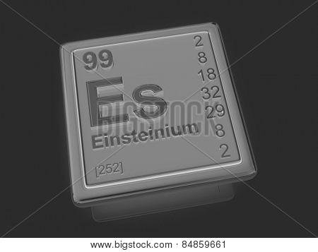 Einsteinium. Chemical element. 3d