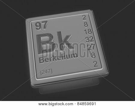 Berkelium. Chemical element. 3d