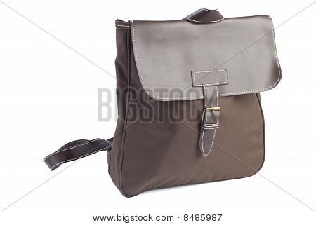 Brown Female Backpack | Isolated