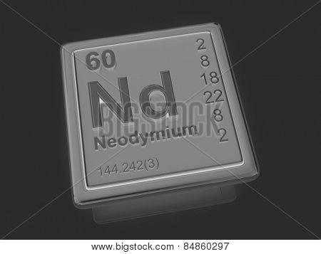 Neodymium. Chemical element. 3d