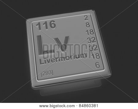 Livermorium. Chemical element. 3d