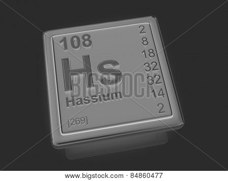 Hassium. Chemical element. 3d