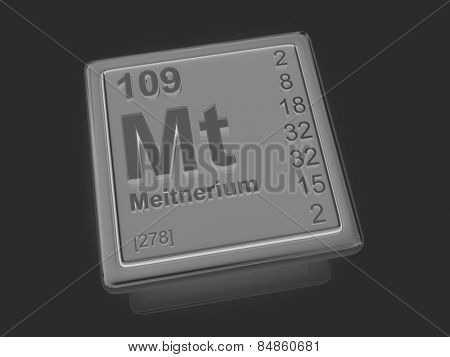 Meitnerium. Chemical element. 3d