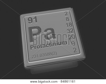 Protactinium. Chemical element. 3d