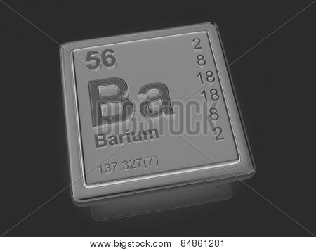 Barium. Chemical element. 3d