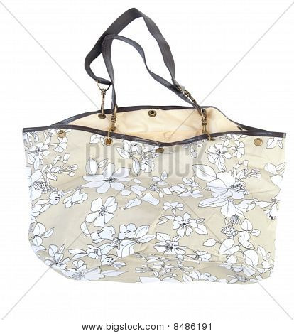 Female Floral Handbag | Isolated