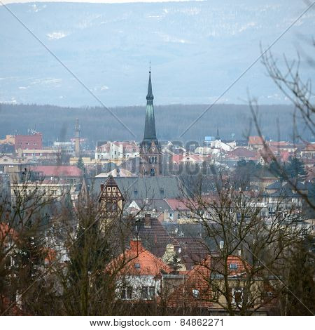 View Of Teplice From Sandy Hill Toward St. Elizabeth Church.