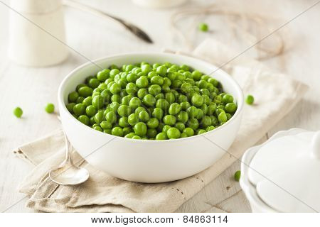 Organic Steamed Fresh Green Peas
