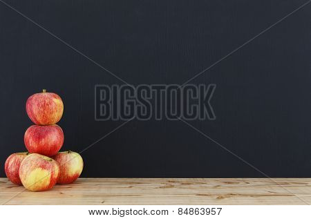 Blackboard With Apple Tower