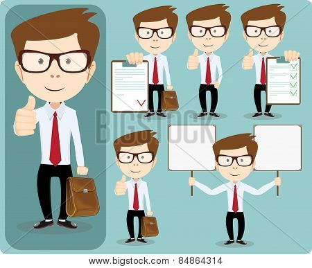 Friendly businessman - Set.Vector