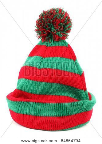 Red green winter cap