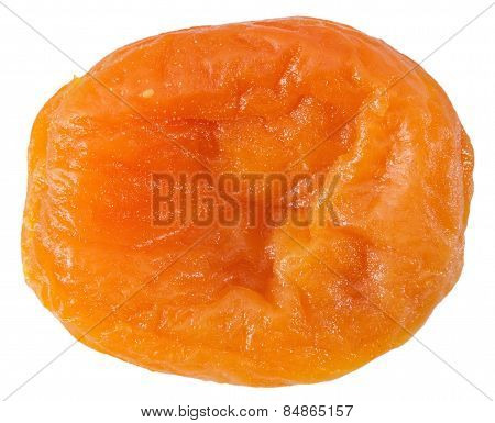 Dried Apricot Isolated On The White Background