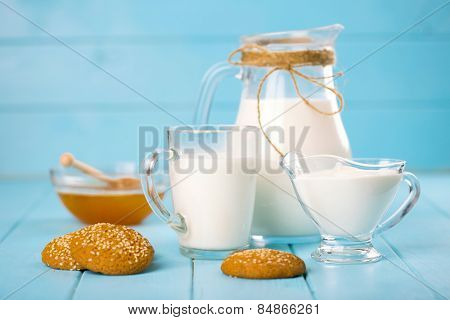 milk, honey and oat cookies