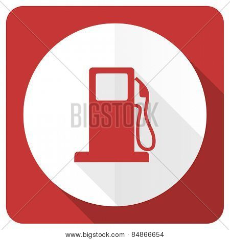 petrol red flat icon gas station sign