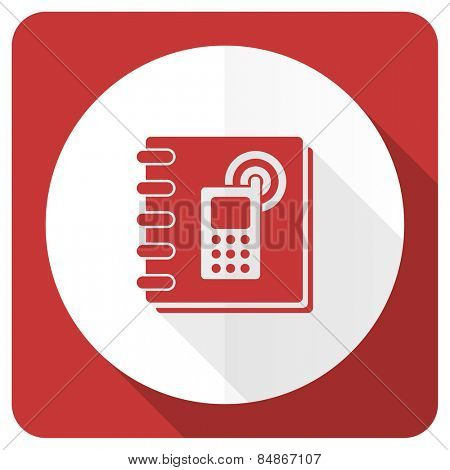 phonebook red flat icon