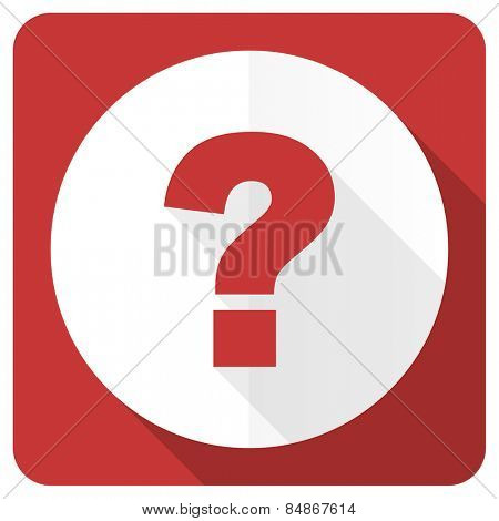 question mark red flat icon ask sign