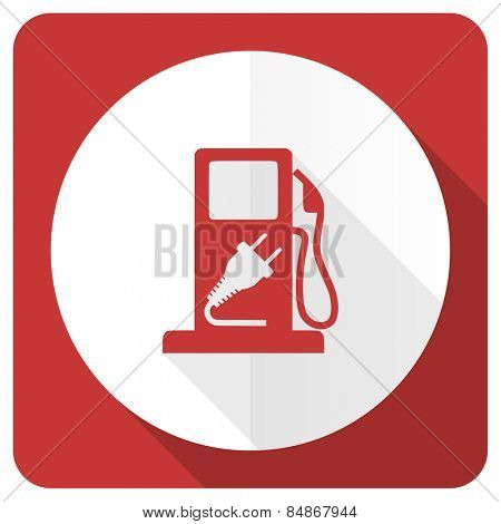 fuel red flat icon hybrid fuel sign