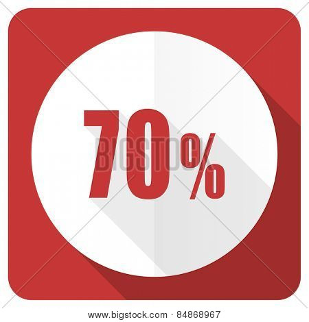 70 percent red flat icon sale sign