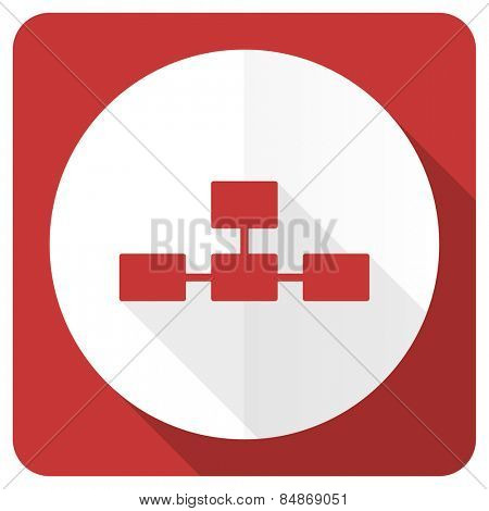 database red flat icon