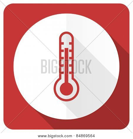 thermometer red flat icon temperature sign